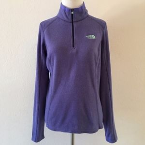 The North Face Purple Fleece Pullover Size Small